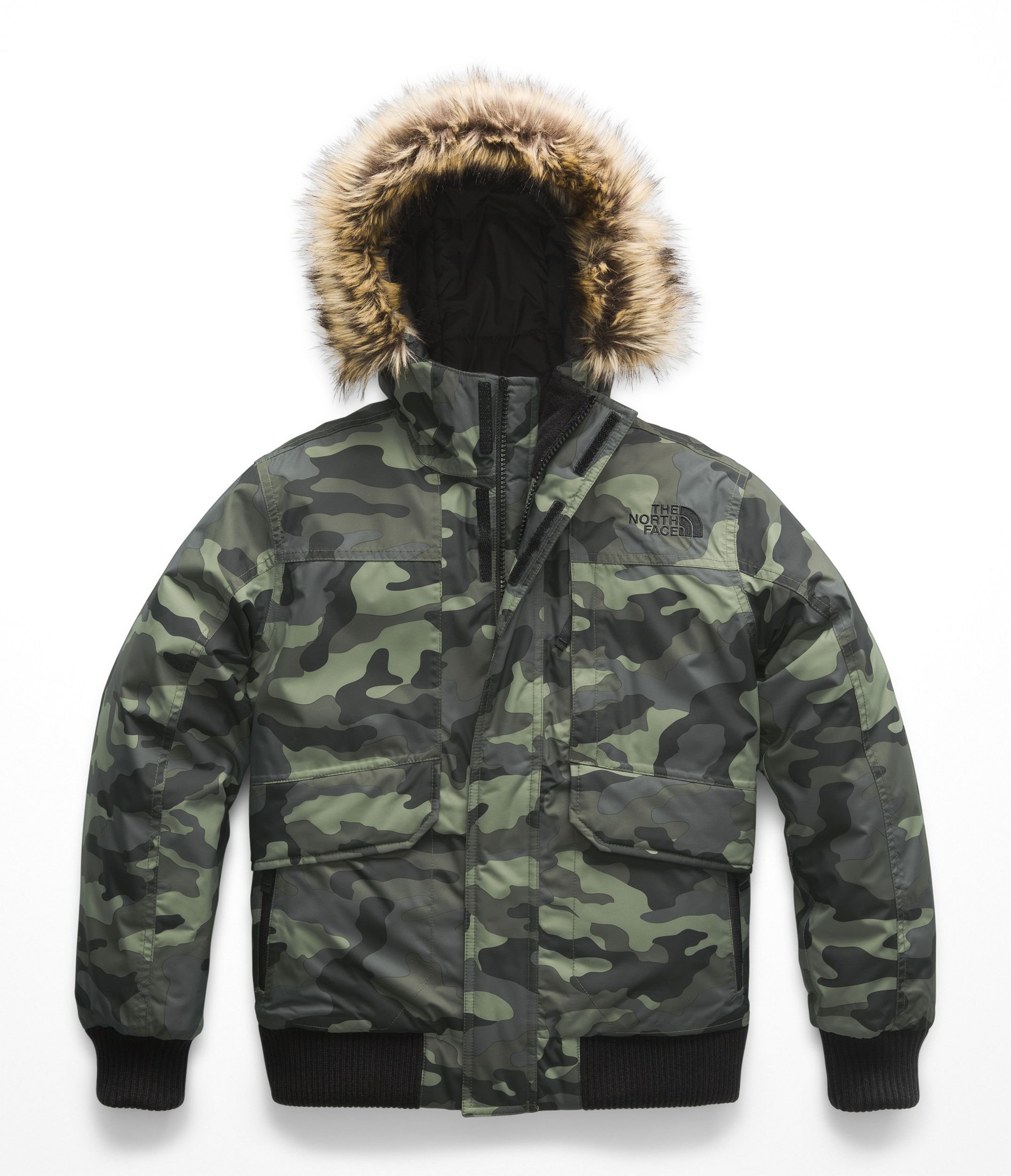 The North Face Boy's Gotham Down Jacket - New Taupe Green Camouflage Print - L by The North Face (Image #1)