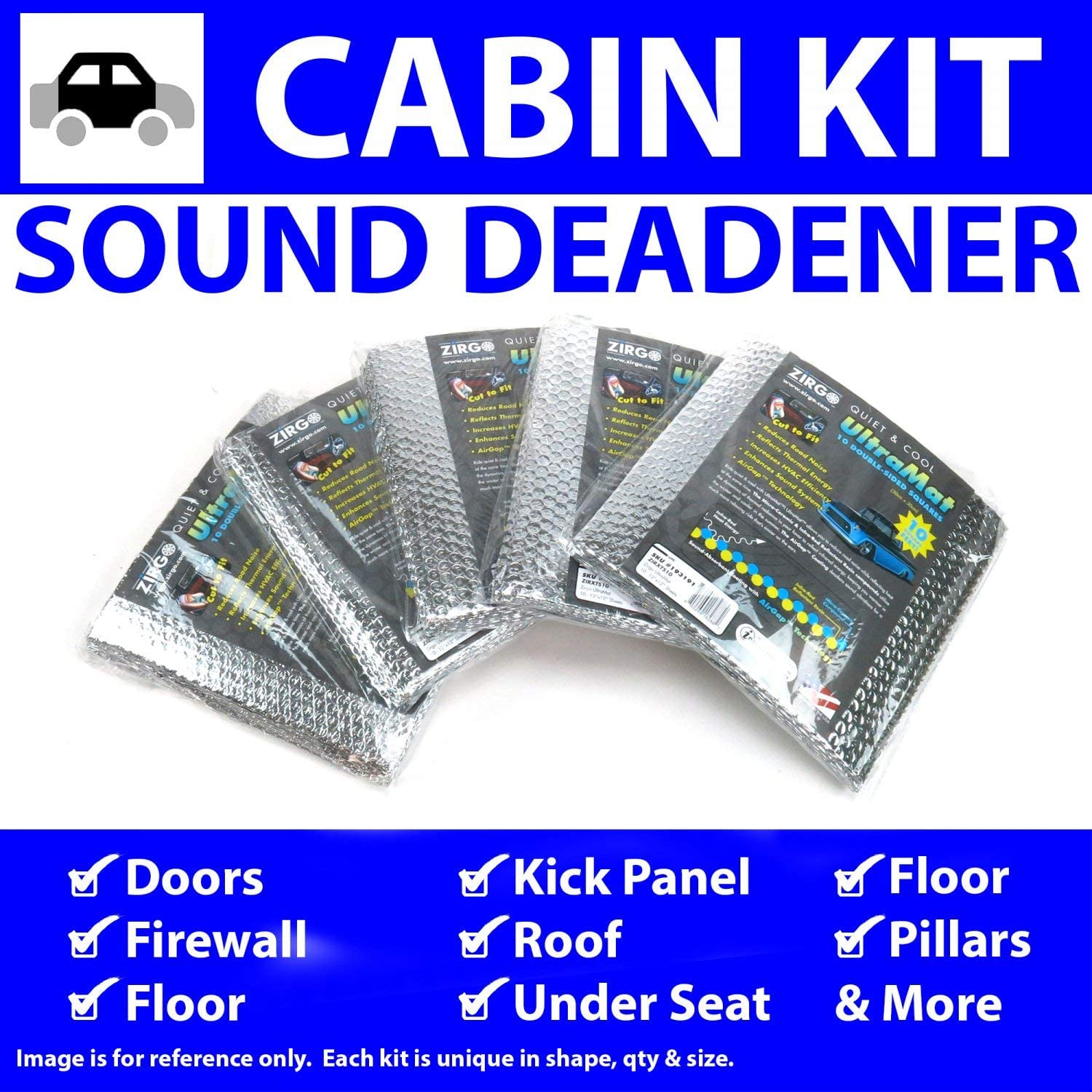 for 65-66 Galaxie ~ in Cabin Kit Zirgo 314746 Heat and Sound Deadener