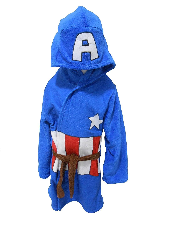 Marvel Avengers Ironman Hulk Captain America Thor Kinder Bademantel Morgenmantel