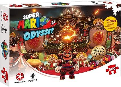 Amazon Com Puzzle Super Mario Odyssey Bowser S Castle 500 Teile Toys Games