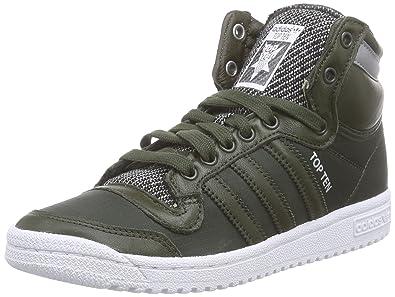 adidas Originals Top Ten Hi Winterised, Baskets pour Femme Noir Schwarz (Night Cargo F14