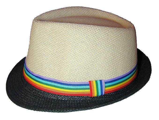 e4397bb6068696 Amazon.com: Gay Rainbow Sisters Gay Pride Hat Rainbow Ribbon Fedora ...