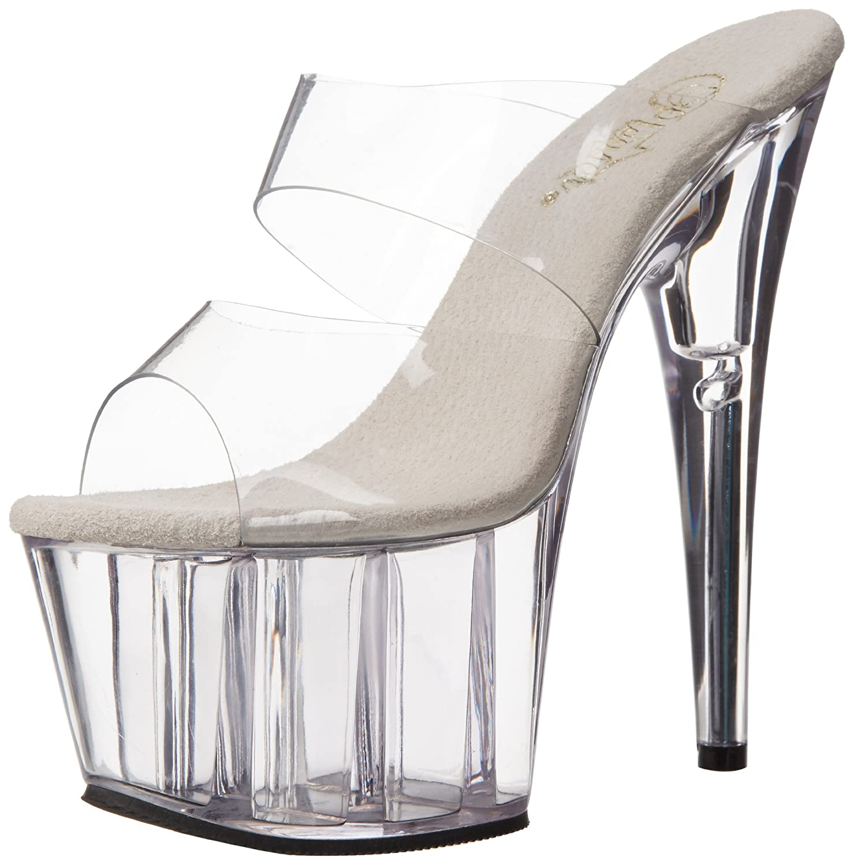 Pleaser Women's Adore-702 Sandal B000YQYQPU 6 B(M) US|Clear/Clear
