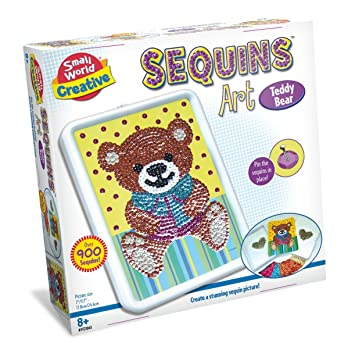 Buy Small World Toys Creative Sequins Art Panda Craft Kit Online