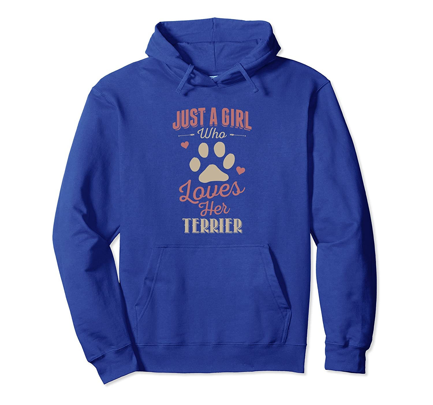 Just A Girl Who Loves Her Terrier Hoodie Dog Lover Gift-AZP