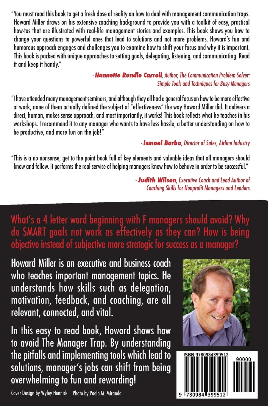 the manager trap pitfalls to avoid mr howard s miller the manager trap 13 1 2 pitfalls to avoid mr howard s miller 9780984399512 com books