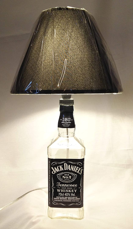 Lampada da tavolo Bottiglia Whiskey Jack Daniel's Daniels Idea regalo arredo design riciclo creativo