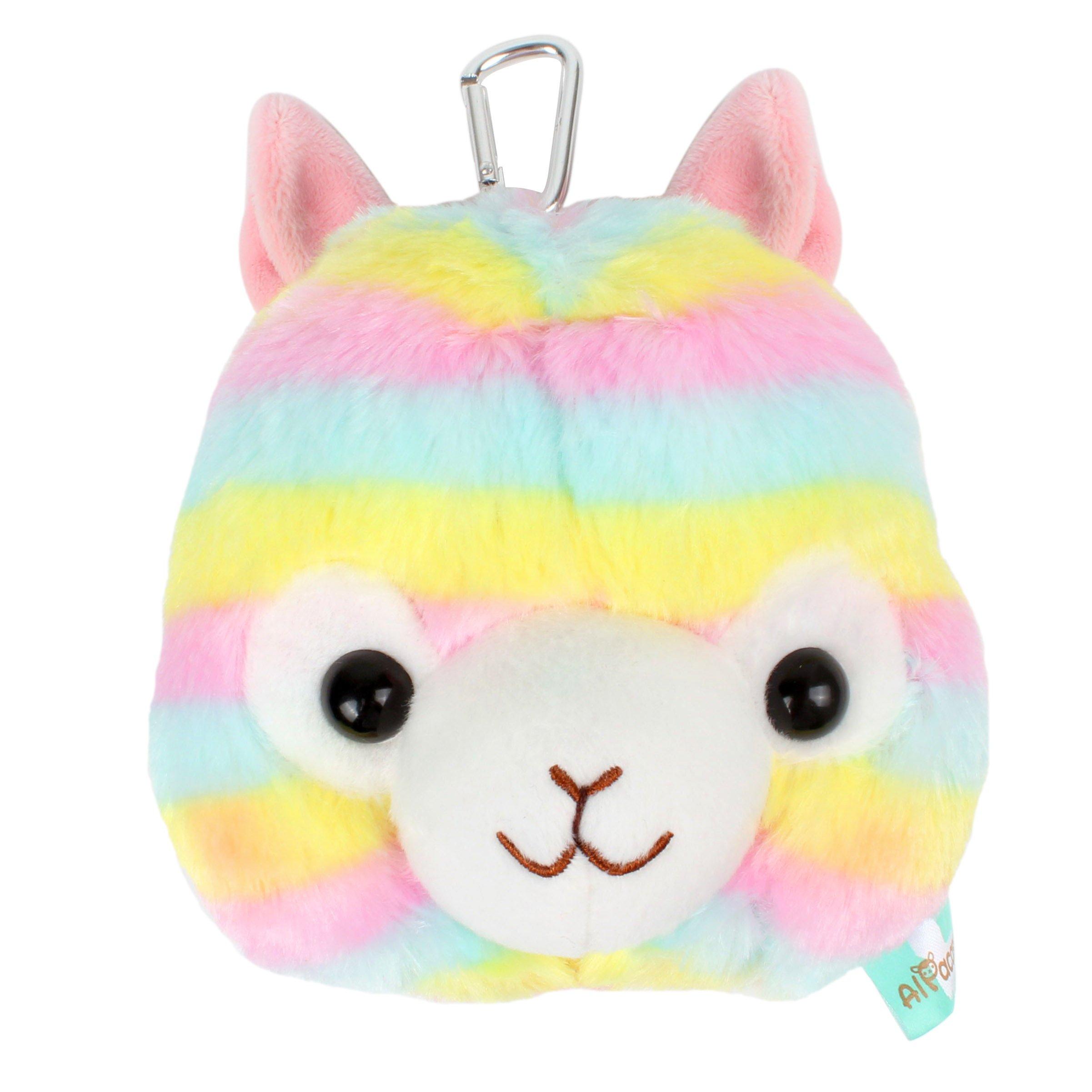 Kosbon 5.5'' Plush Rainbow Alpaca Carrying Coin Purse, Cute Soft Stuffed Animals Card Bag. (Rainbow Coin Purse)
