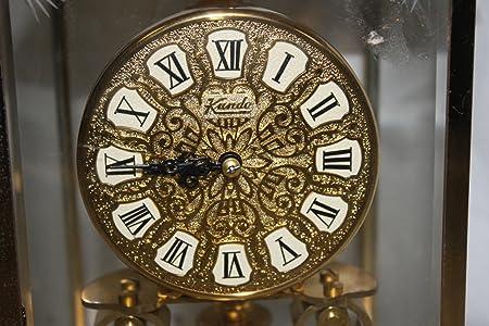Amazon.com: KUNDO Kieninger Obergfell Brass Glass Mantle Anniversary Clock (Made in Germany): Home & Kitchen