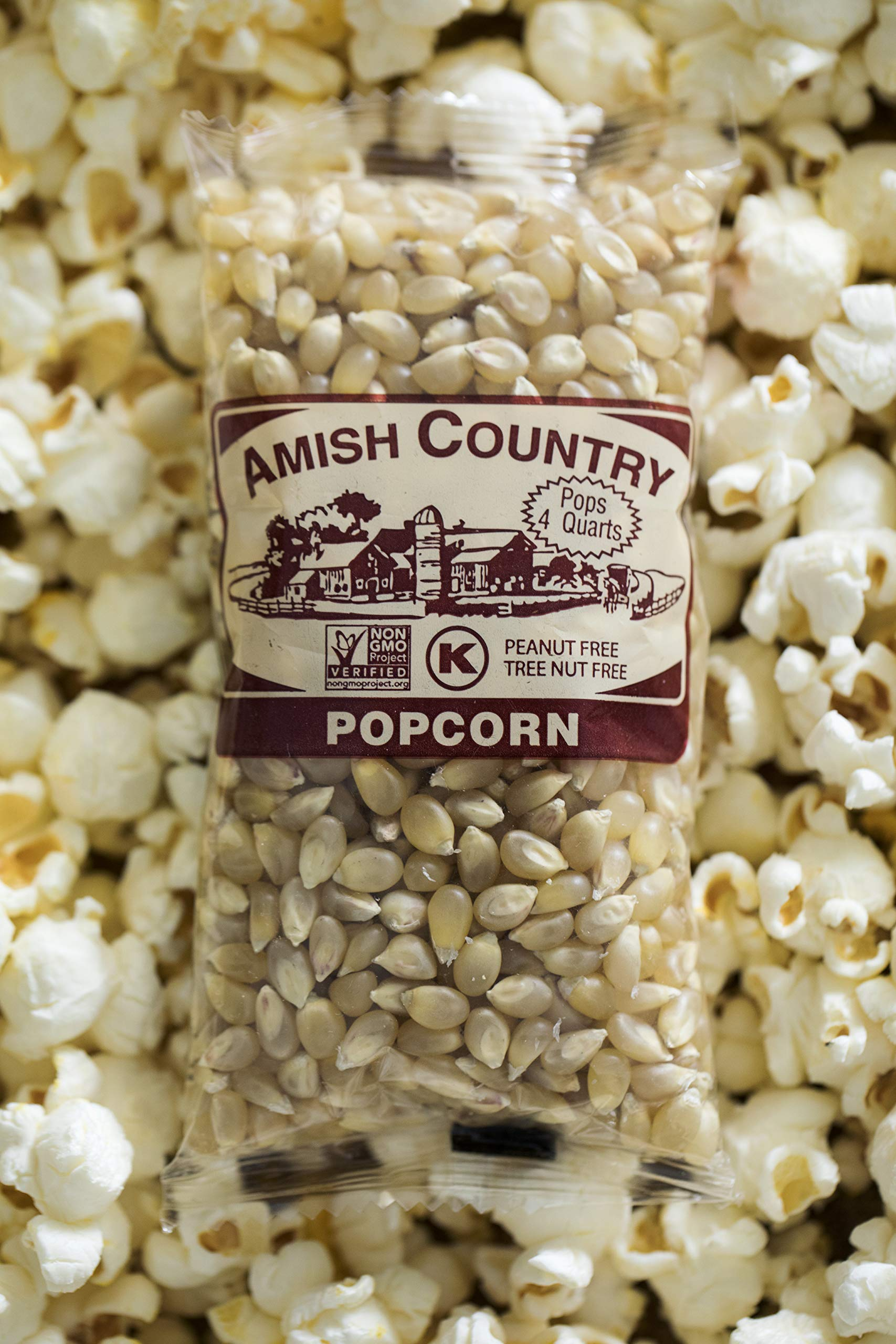 Amish Country Popcorn - Medium White Popcorn (4 Ounce - 24 Pack) Bags - Old Fashioned, Non GMO, and Gluten Free - with Recipe Guide by Amish Country Popcorn (Image #5)