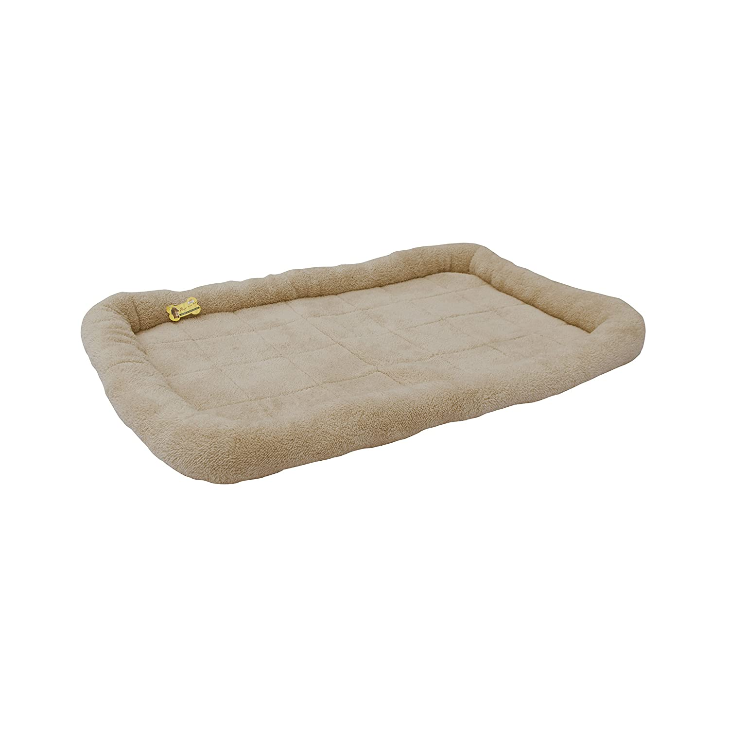 ALEKO PCM06XL Soft Plush Beige Comfy Pet Bed Cushion Mat for Dogs and Cats, XL