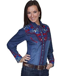 0284fbfe7b Lucky Brand Women s Remade Denim Button Up Western Shirt at Amazon ...