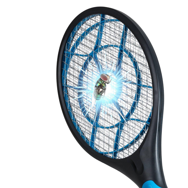 Elektrische Fliegenklatsche und Insektenvernichter, elektrischer Fliegenfänger für Mückenschutz, Wespenbekämpfung und andere fliegende Insekten, effektiver Insektenschutz
