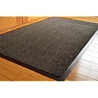 FunkyBuys® Barrier Mat Large Grey/Black Door Mat Rubber Backed Medium Runner Barrier Mats Rug PVC Edged Heavy Duty Kitchen Mat(80 X 120 Cm)