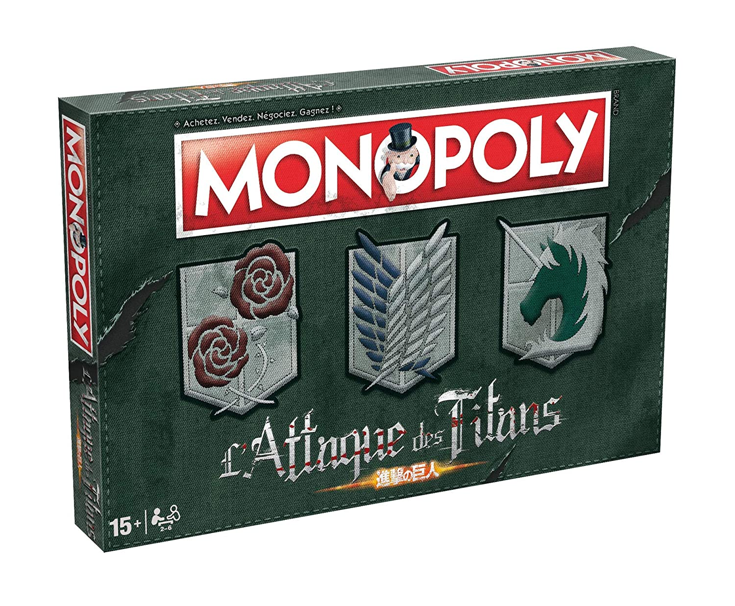 Winning Moves Monopoly Ataque a los Titanes Winning moves ...
