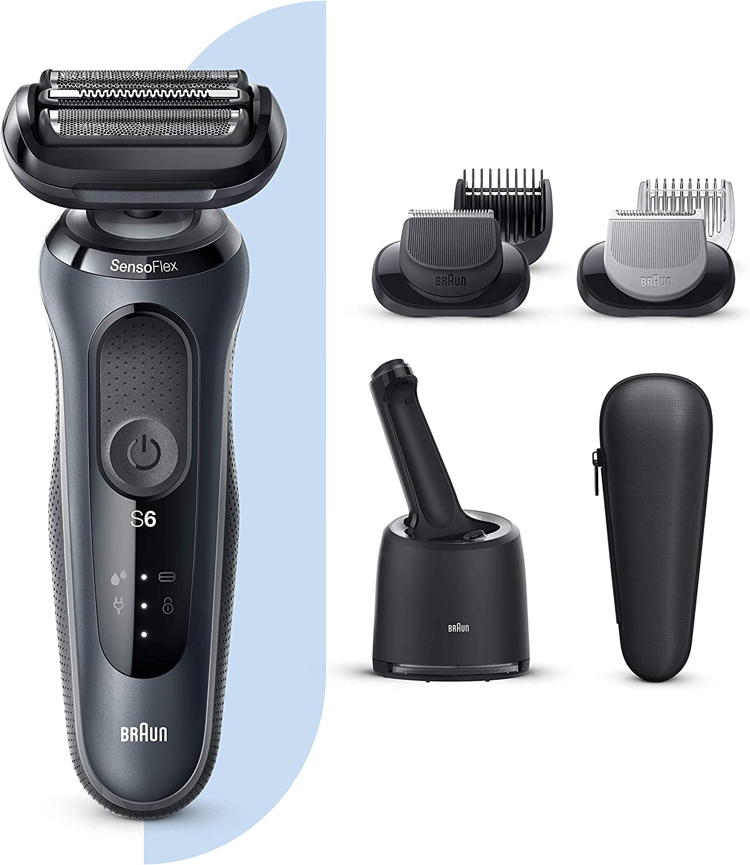 Braun Series 6 60-N7650cc Afeitadora Eléctrica, máquina de afeitar barba hombre de Lámina con Base de Carga, Con Centro De Limpieza SmartCare, 2 Accesorios EasyClick ...