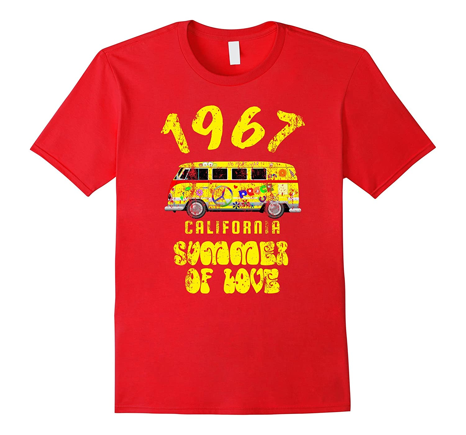 1967 Summer of Love T-Shirt Anniversary Distressed Edition-TH