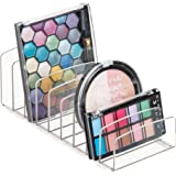 "InterDesign Clarity 12"" Bathroom Vanity Countertop Multi Level Organizer for Cosmetics, Makeup, Vitamins, Medicine - Clear, Various Style Palette Organizer"