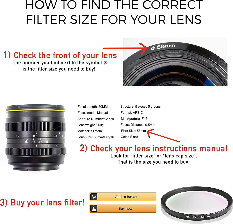 Filter UV-Filter 67mm optisches Glas aus Japan Fr Canon Sony ...