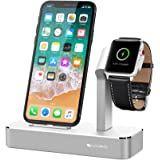 iVAPO Stand for Apple Watch iPhone Dock for Apple Watch Series 3/ Apple Watch Series 3 with Cellular/ Apple Watch Series 1/ Apple Watch Series 2/ Apple Watch Nike+ iPhone 8/ iPhone 8 Plus/ iPhone X/ iPhone 7/ iPhone 7 Plus iPhone 6s Plus /iPhone 6 /iPhone 6s (Silver)