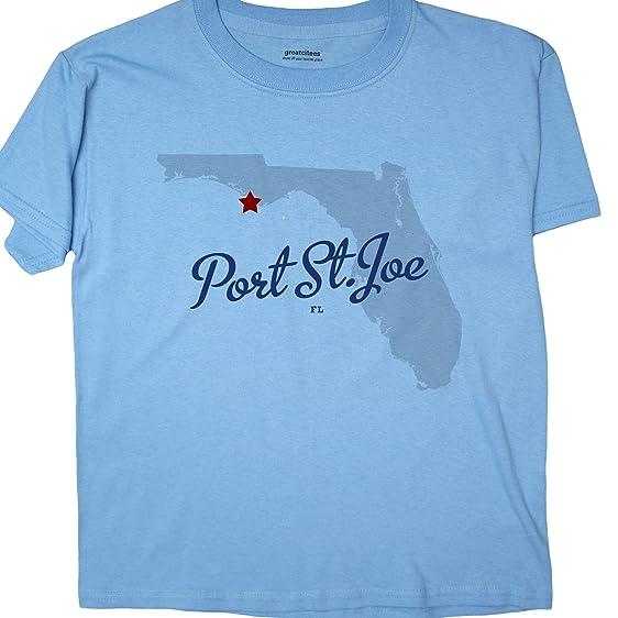 Port St Joe Florida Map.Amazon Com Greatcitees Unisex Port St Joe Florida Fl T Shirt Map
