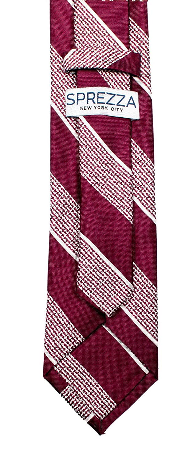 SPREZZA Mens Classic Light Colors Stripe Tie 2.75 inch Slim Necktie