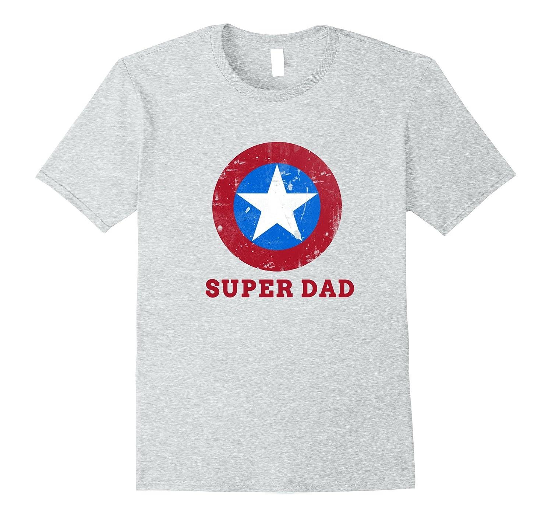 6a30e2ac Super Dad T-Shirt Funny Superhero Fathers Day Tshirt-PL – Polozatee