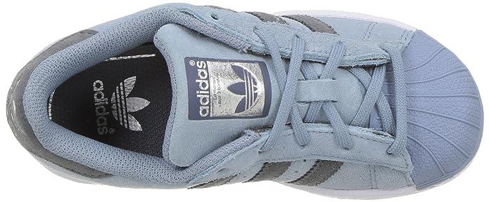 adidas Originals Boys' Superstar C Sneaker, Tactile Blue Onix, 11 Medium US  Little Kid