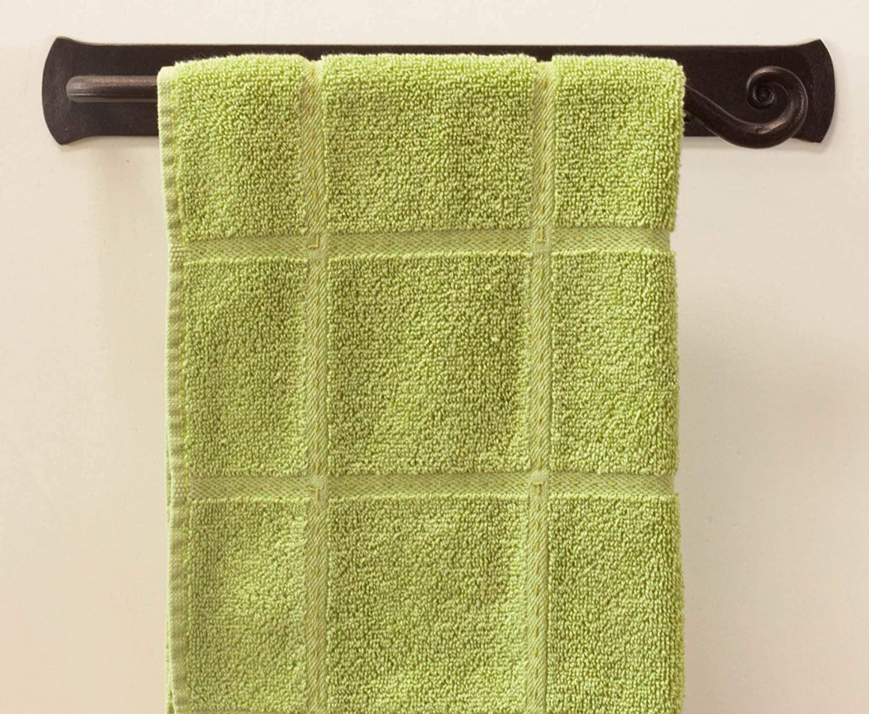 Easy Installation Bathroom etc Decorative Wrought Iron Hand Towel Holder Swirl Towel Bar Rack for Kitchen | Wall Mount Dish Towel Rod Hanger Handmade by RTZEN-D/écor