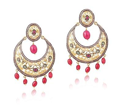 3739fceeab6ea Buy Attractive Ruby, Emerald, Diamond Polki Gemstone 18k Gold and ...
