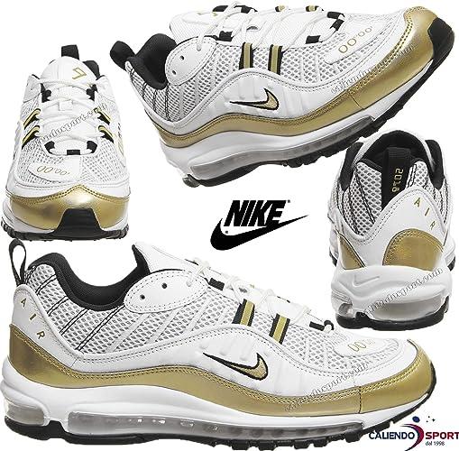 air max 98 bianche e oro