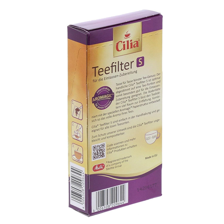 0,75 /à 1,6 L Cilia 80 Filtres /à Th/é Pour Grande Th/éi/ère Sans R/ésidu dans La Tasse Taille L