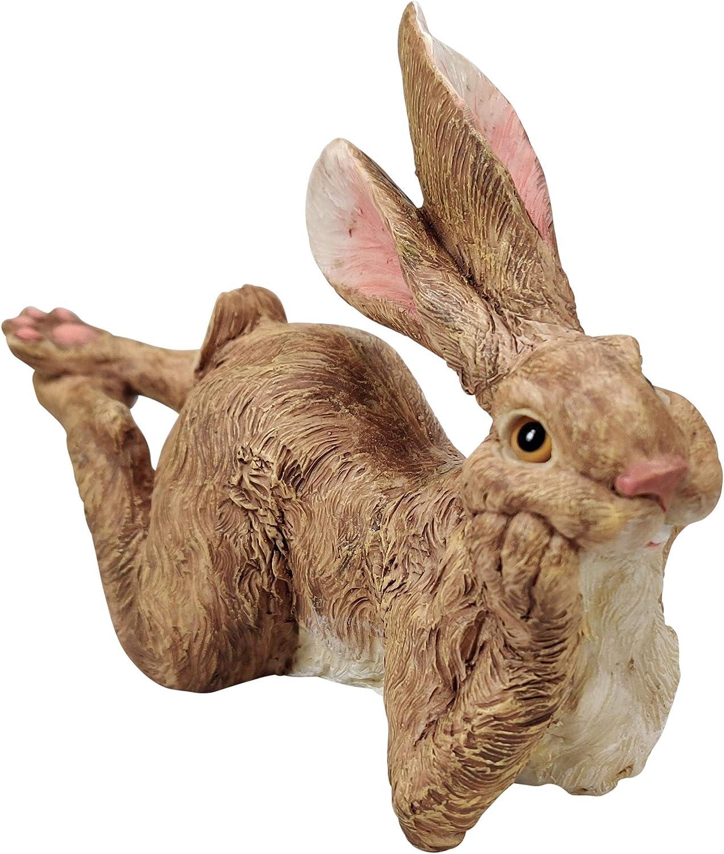 Boulevard East Concepts Bunny Rabbit Resting Statue Sculpture Figurine Decoration – Bunny Lover Gifts, Rabbit Decor