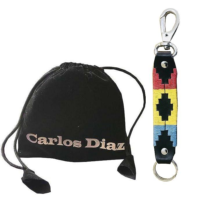 Carlos Diaz Llavero Polo De Cuero Argentino Marrón Bordado Y ...