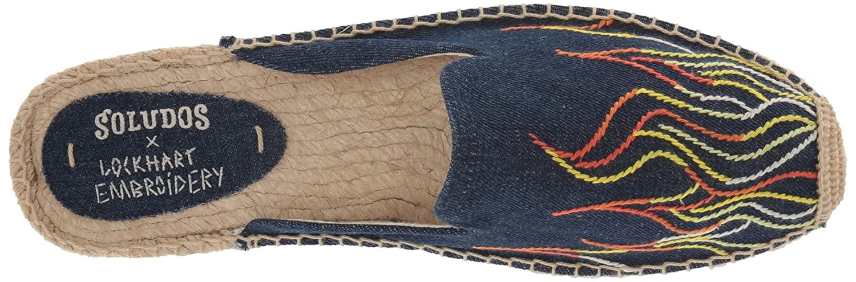 9cb2fecff Amazon.com   Soludos Women's Stitched Flames Mule Slipper   Slippers