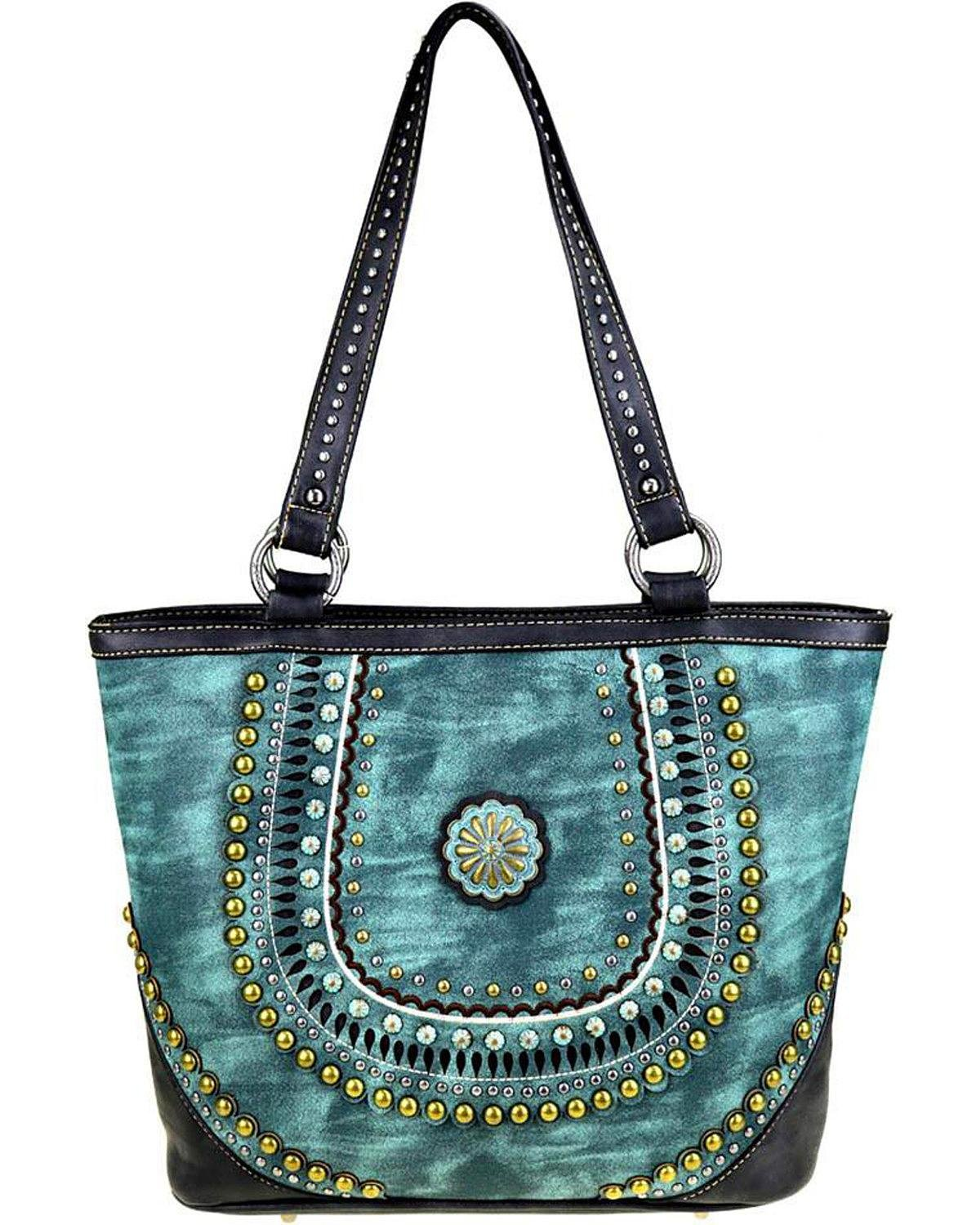 Montana West Women's Turquoise Concealed Handgun Tote Turquoise One Size