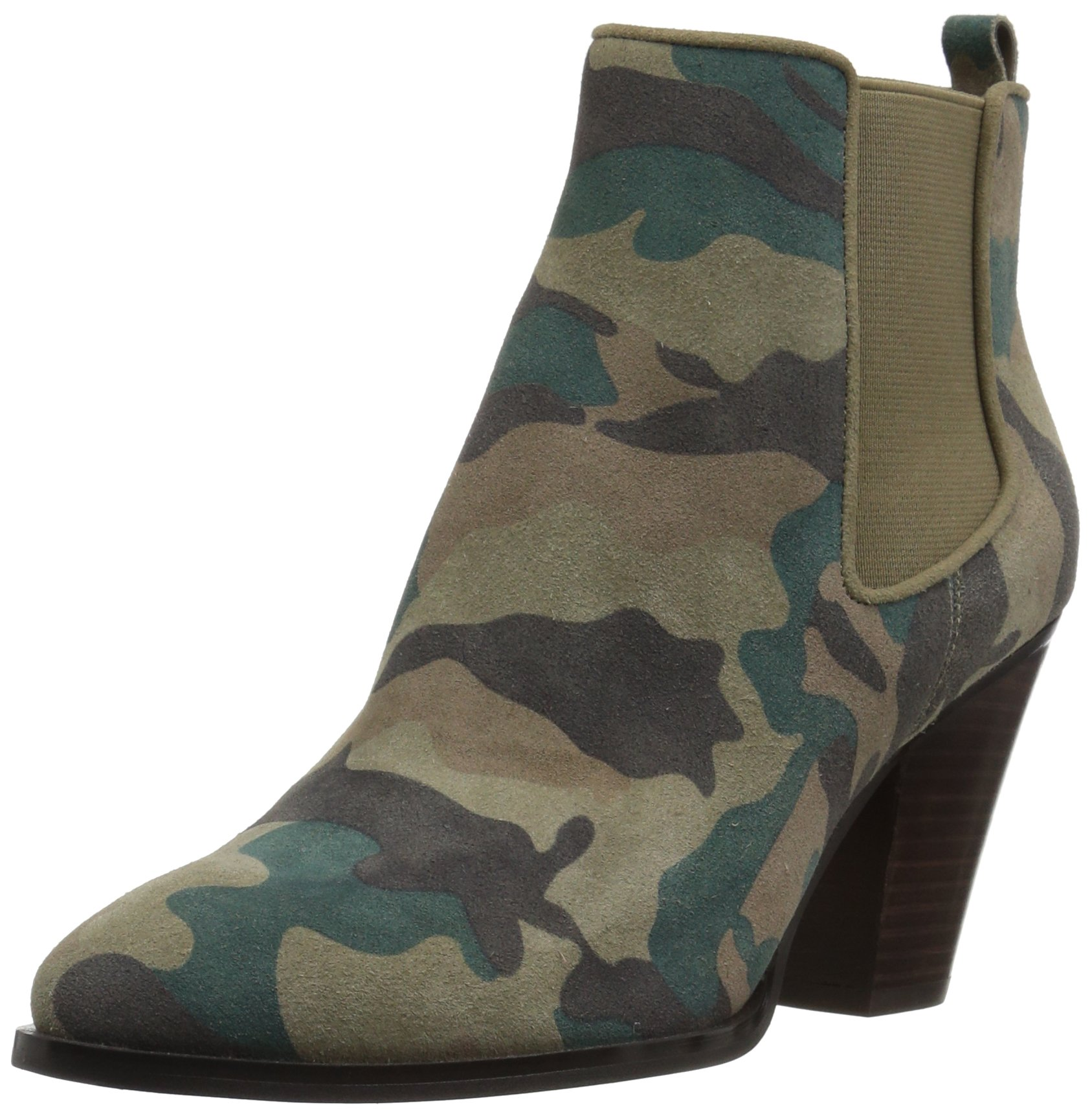 The Fix Women's Joelle Cowboy Style Ankle Boot, Autumn Green Camo, 8 B US