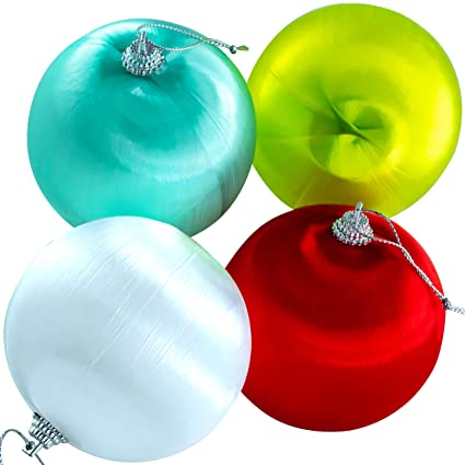 Vintage Plastic Outdoor Christmas Decorations.Shatterproof Satin Xmas Ball Ornaments With Hook Hangers Vintage Assorted Color Bulbs 12 Pack Small 2 36in Plastic Core Set Great For Indoor Or