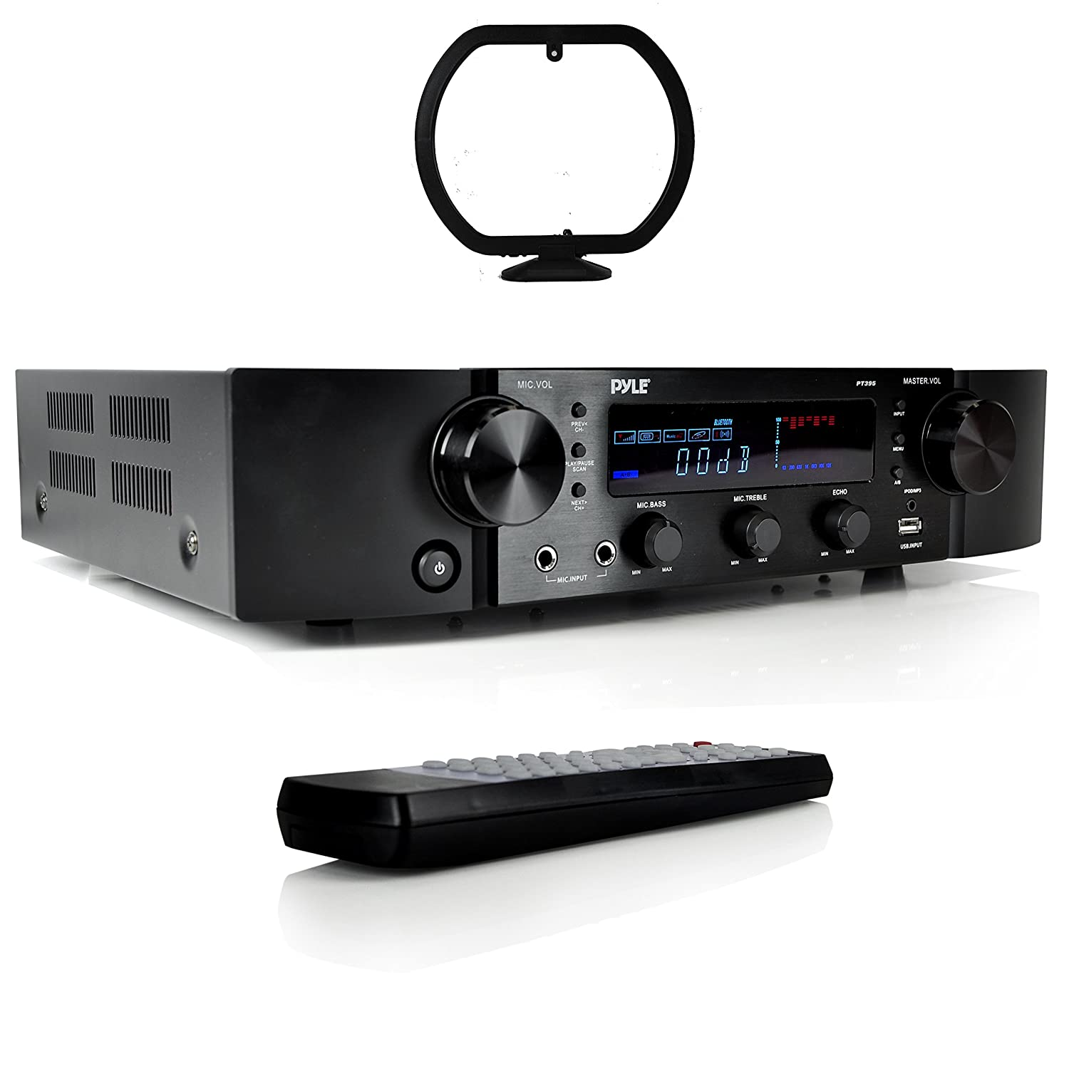 Pyle Updated Pyle Stereo Preamplifier Home Entertainment Receiver Bluetooth Amp Rca Audio Input 2 Channel Amp Am Fm Radio With Lcd Display Mp3 Usb Aux