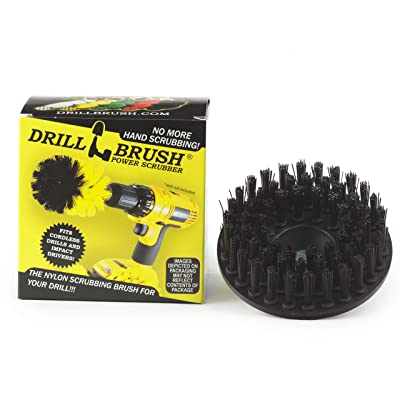 Industrial - Contractor - Scrub Brush - 5-inch Diameter - Threaded 5/16x24 - Ultra Stiff Bristles - Dual Action Polisher - Da - Electric - Air Pneumatic - fits - PORTER-CABLE 7424XP - Meguiars G110v2: Industrial & Scientific