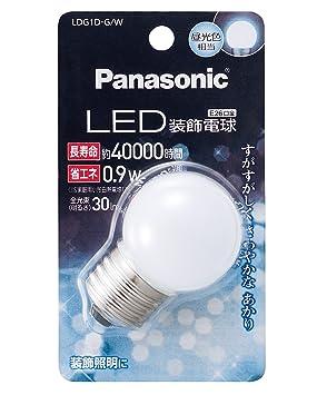 Panasonic LED luz decorativa bombilla g-shaped tipo 0,9 W ldg1dgw: Amazon.es: Hogar