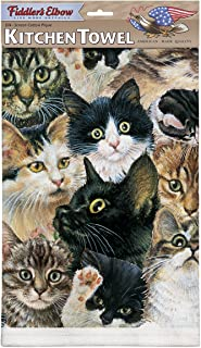 product image for Fiddler's Elbow Kitten Faces 100% Cotton Eco-Friendly Dish Towel