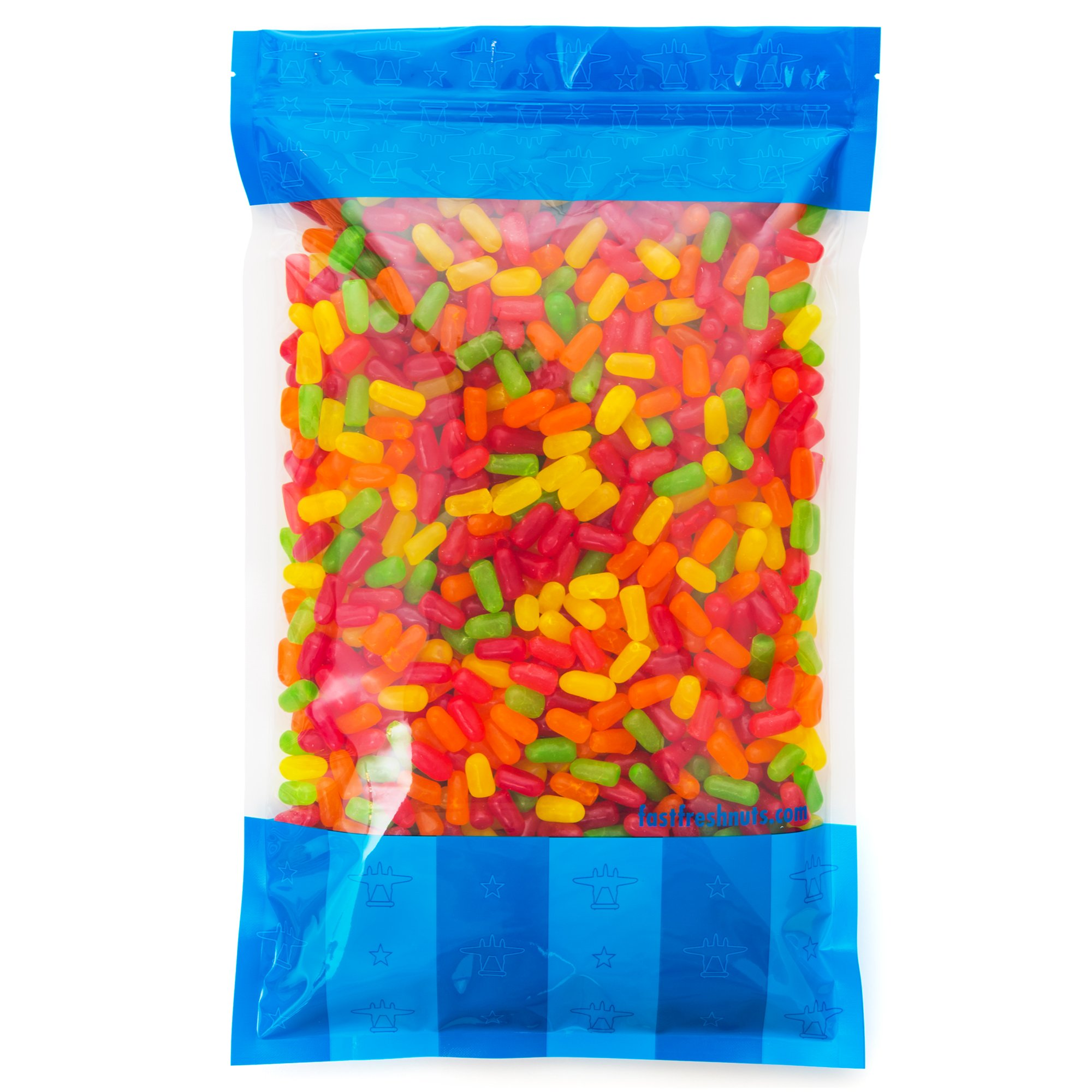 Bulk Mike & Ikes in an 8 lb Resealable Bomber Bag - Fresh, Tasty Treats - Great for Office Candy Bowls - Wholesale - Refill Candy Vending Machines - Holidays - Parties by Fast Fresh Nuts