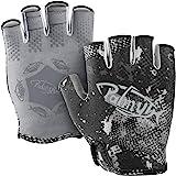 Palmyth Stubby UV Fishing Gloves Sun Protection Fingerless Glove Men Women UPF 50+ SPF for Kayaking, Paddling, Canoeing, Rowi