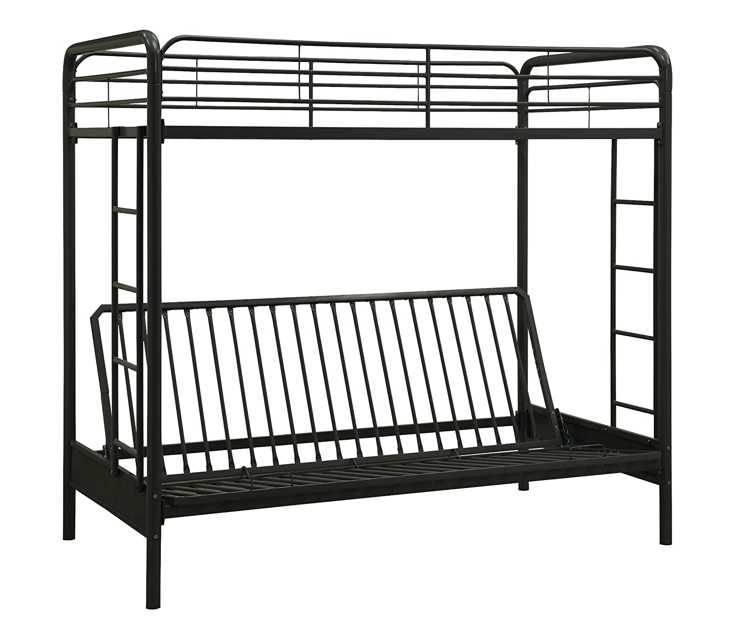 amazoncom dorel home products futon bunk bed black kitchen u0026 dining