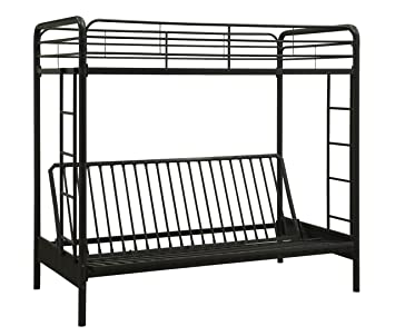 Dorel Home Products Twin Over Full Futon Bunk Bed Black