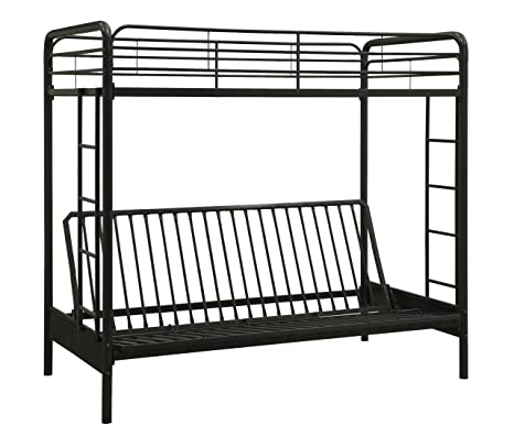 official photos 022c8 ef826 Dorel Home Products Twin-Over-Full Futon Bunk Bed, Black