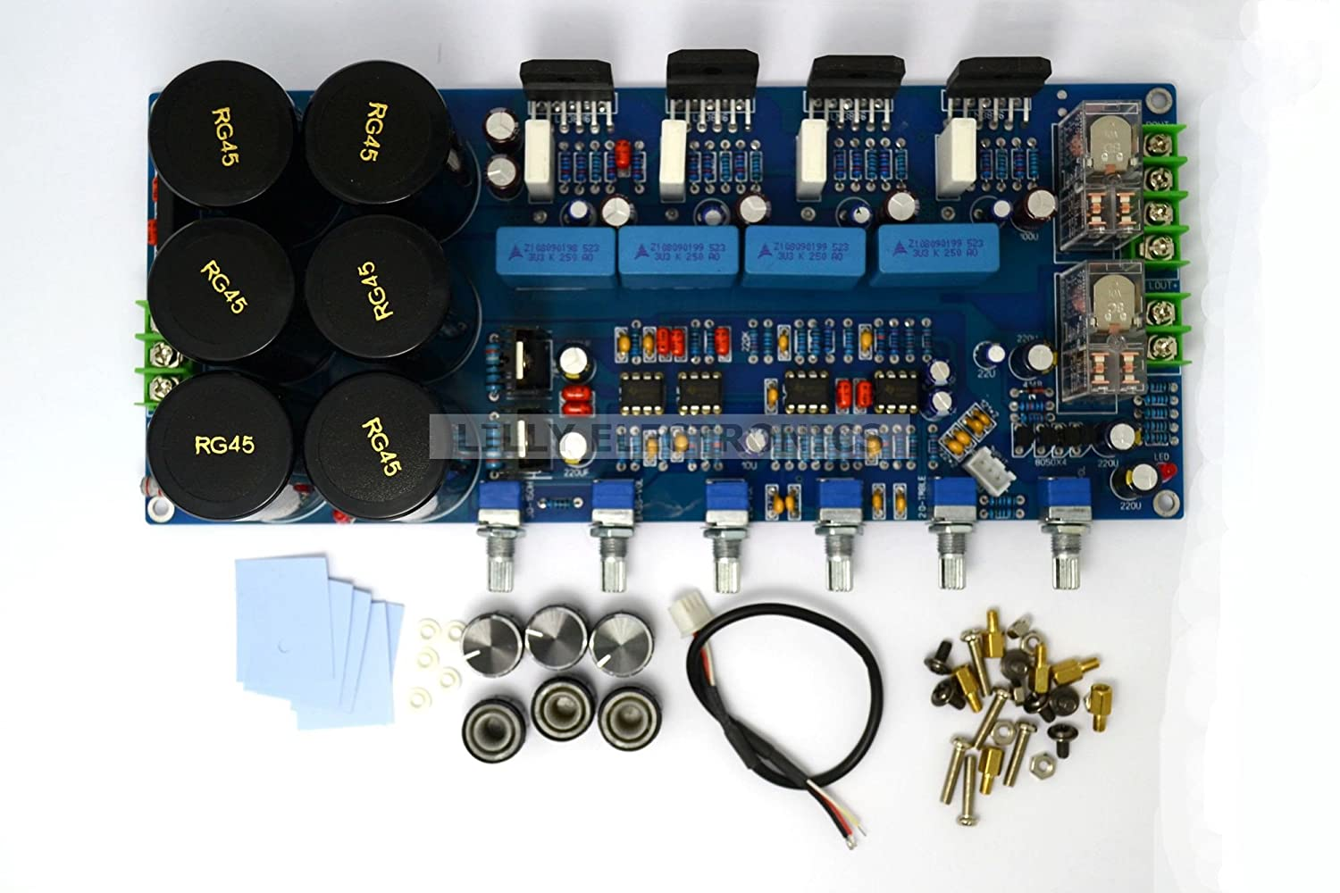 Q Baihe Lm3886 21 Subwoofer Fever Level Amplifier Board 300w High Power Diy Circuit Hifi With Protection Industrial Scientific