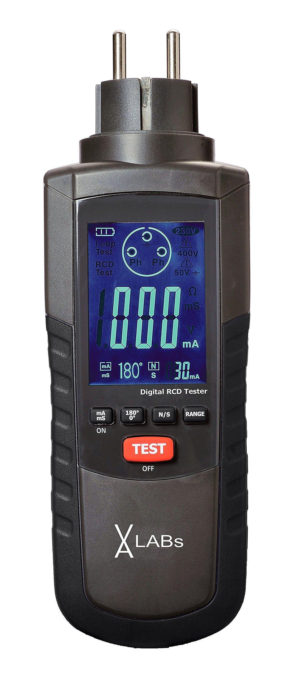 VA-LABs RCD-Tester, FI-Tester, Steckdosentester, zur schnellen Prüfung von FI-Schaltern, Prüfströme wählbar product image