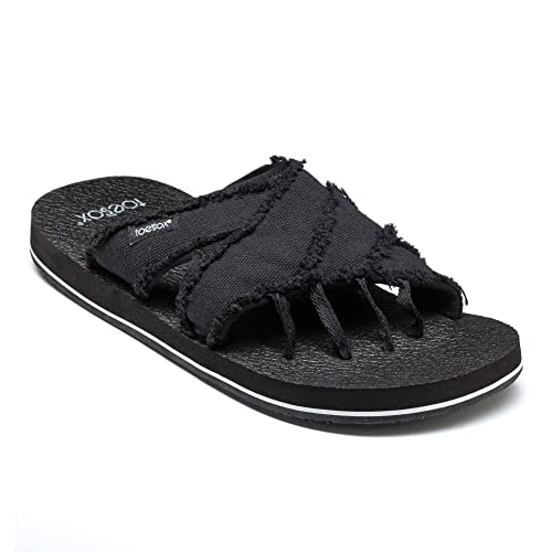 e7351866d Toesox Bohemian Men's Five Toe Sandals, Black, 11: Amazon.ca: Shoes &  Handbags